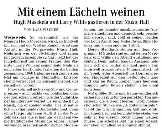 Hugh Masekela & Larry Willis